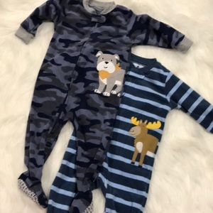2 Pairs of Carters Footed Pajama
